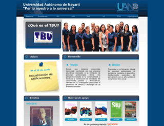 tbu.uan.edu.mx screenshot