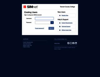 tccd.simnetonline.com screenshot