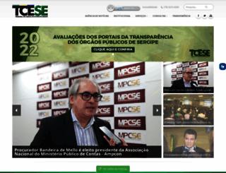 tce.se.gov.br screenshot