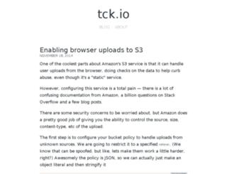 tck.io screenshot