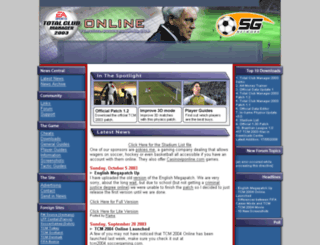 tcm2003.soccergaming.com screenshot