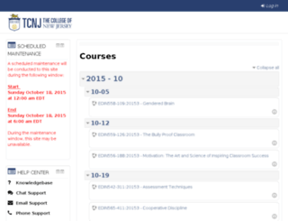 tcnj.learninghouse.com screenshot