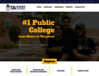 tcnj.pages.tcnj.edu screenshot