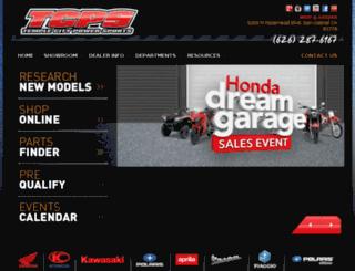 tcpowersports.com screenshot