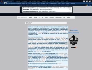 tcuvelier.developpez.com screenshot