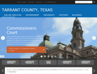 tcweb.tarrantcounty.com screenshot