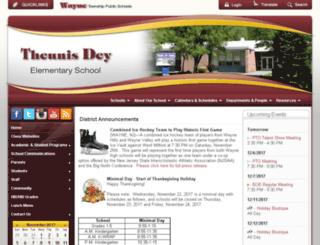 td.wayneschools.com screenshot
