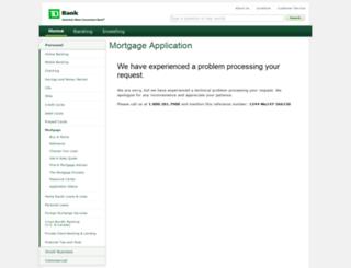 tdbank.mortgagewebcenter.com screenshot