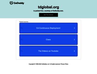 tdglobal.org screenshot