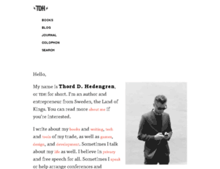 tdhedengren.com screenshot