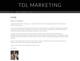 tdlmarketing.wordpress.com screenshot