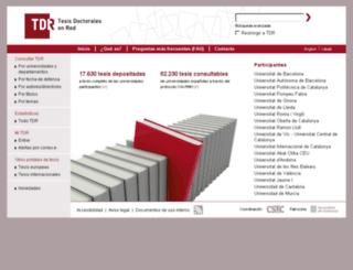 tdr.cesca.es screenshot