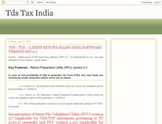 tdstaxindia.com screenshot