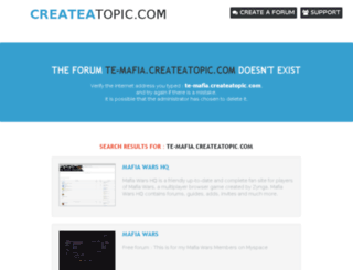 te-mafia.createatopic.com screenshot