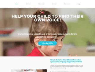 teach-speech.com screenshot