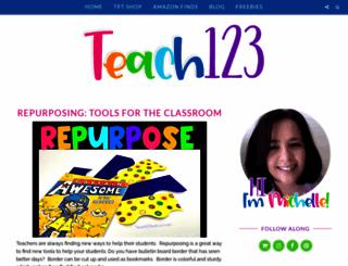 teach123-school.blogspot.com screenshot