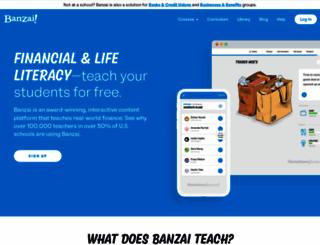 teachbanzai.com screenshot