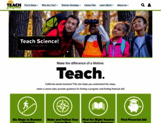 teachcalifornia.org screenshot