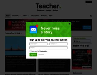 teacher.acer.edu.au screenshot