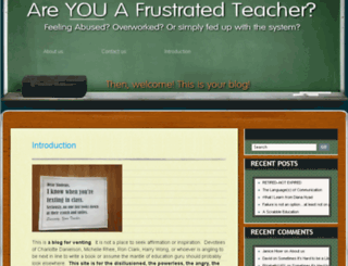 teacherblues.com screenshot
