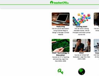 teachercpd.ie screenshot