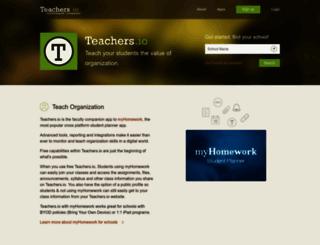 teachers.io screenshot