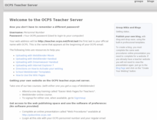 teachers.ocps.net screenshot