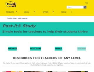 teachers.post-it.com screenshot