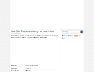 teachersonline.go.ke.pagesstudy.com screenshot