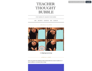 teacherthoughtbubble.tumblr.com screenshot