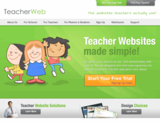 teacherweb.com screenshot