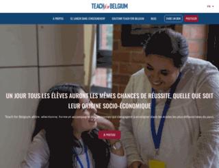 teachforbelgium.org screenshot