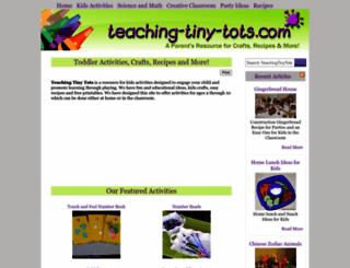 teaching-tiny-tots.com screenshot