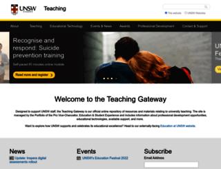teaching.unsw.edu.au screenshot