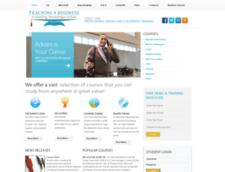 teaching4business.co.uk screenshot