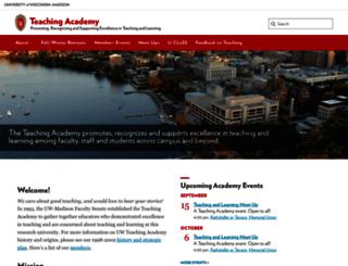teachingacademy.wisc.edu screenshot