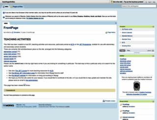 teachingactivities.pbworks.com screenshot