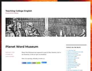 teachingcollegeenglish.com screenshot