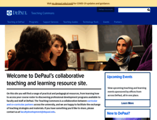 teachingcommons.depaul.edu screenshot