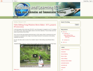 teachinglearningict.blogspot.com screenshot