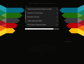 teachingopportunitiesabroad.com screenshot