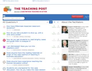 teachingpost.hbsp.harvard.edu screenshot