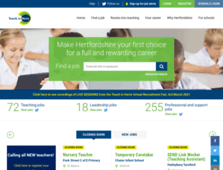 teachinherts.com screenshot