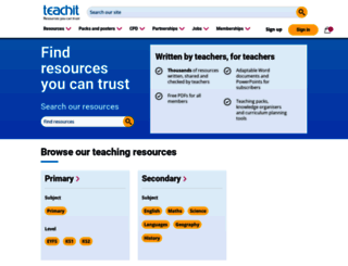 teachit.co.uk screenshot