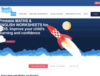 teachmykids.co.uk screenshot