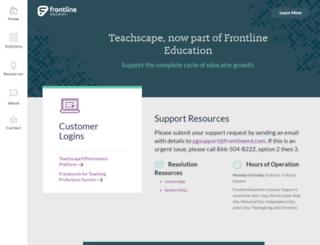 teachscape.com screenshot