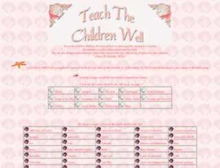 teachthechildrenwell.com screenshot