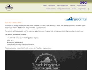 teachvirginia.org screenshot