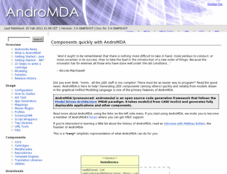 team.andromda.org screenshot