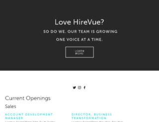 team.hirevue.com screenshot